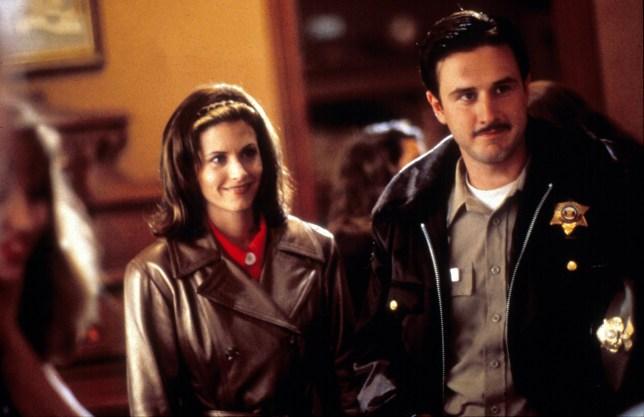 Courteney Cox and David Arquette in Scream