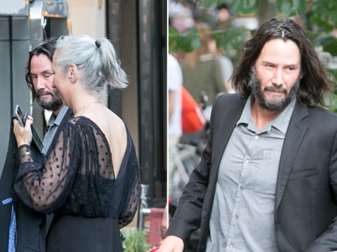 Keanu Reeves and girlfriend Alexandra Grant get dressed up for dinner with Matrix 4 cast