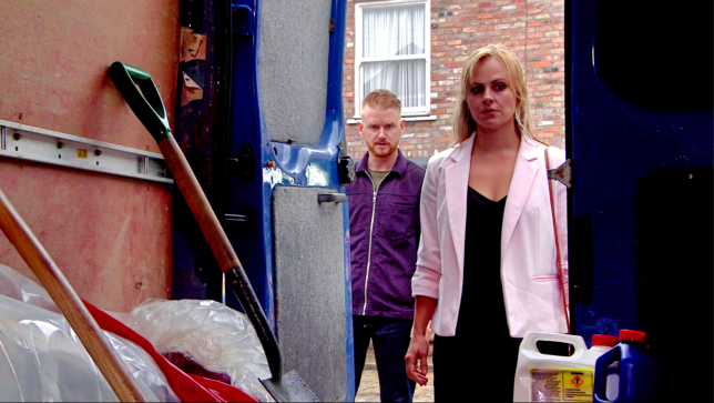 Sarah and Gary in Coronation Street