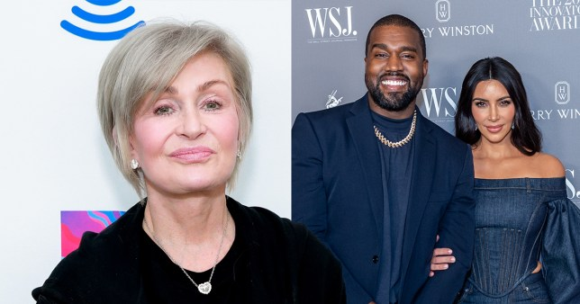 Sharon Osbourne, Kim Kardashian and Kanye West