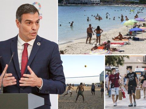 Spain's prime minister says most areas of the country are 'safer than UK'