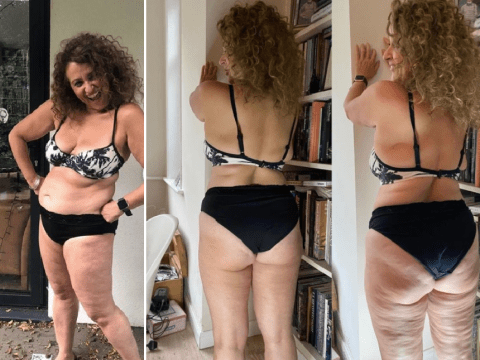 Nadia Sawalha shows off cellulite in powerful photos: 'I fake that I'm confident'