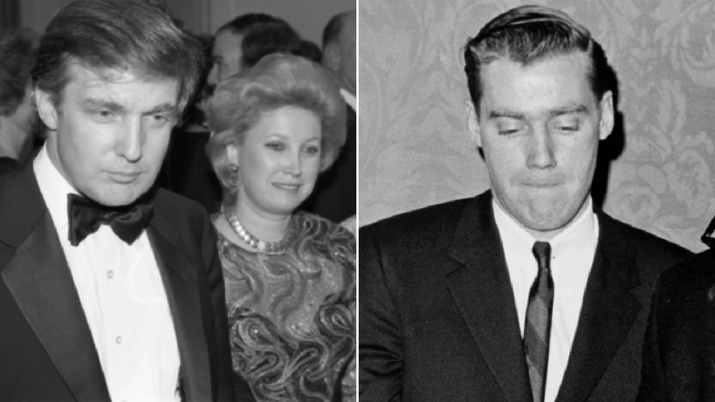 Photo of Donald Trump and his sister Maryanne next to photo of his brother Fred