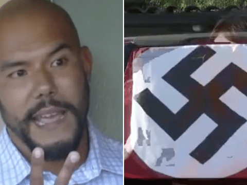 Driver says he flies Nazi swastika on his car to protest against Black Lives Matter and gays