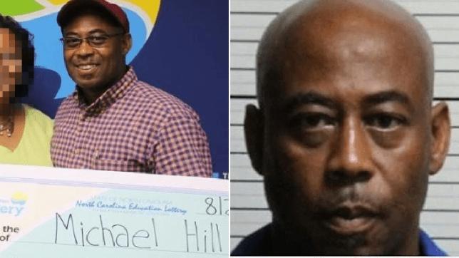Michael Hill winning lottery, Hill mugshot