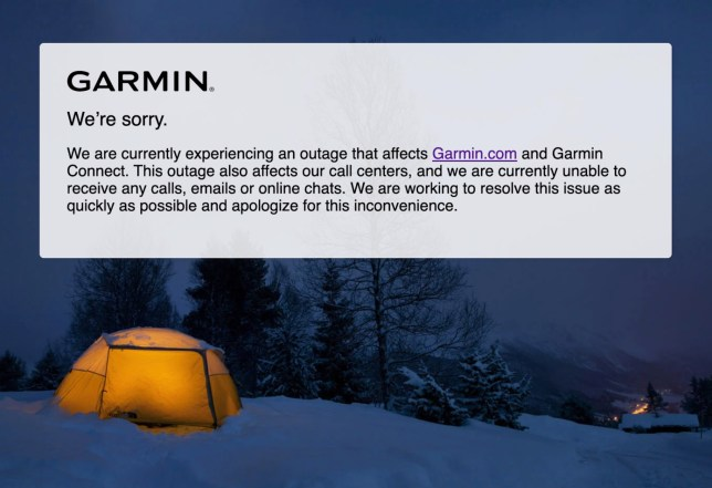 Garmin has been experiencing issues for the last four or five days (Garmin)