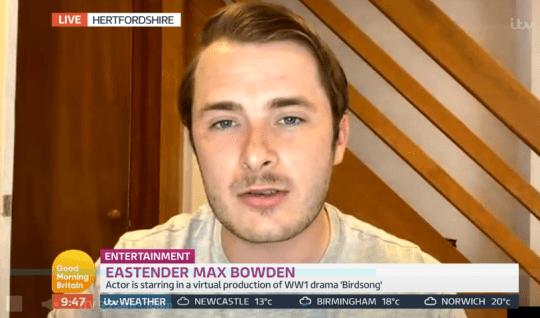 EasteEnders' Max Boweden on Lorraine