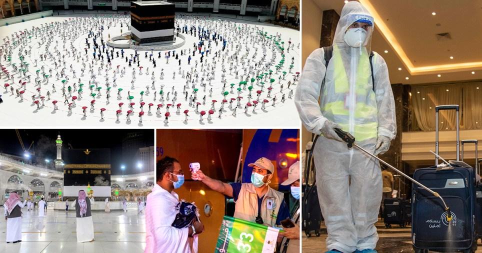Composite image of socially distanced hajj