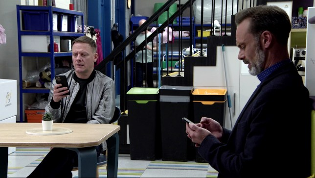 Billy and Sean in Coronation Street