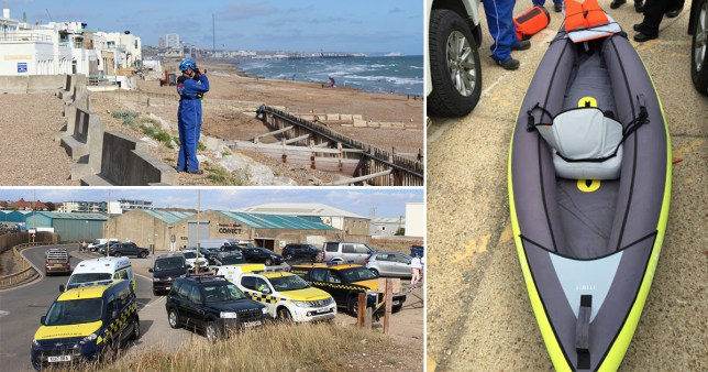 A kayaker was seen entering the water in Brighton on Sunday morning and has not been seen since.