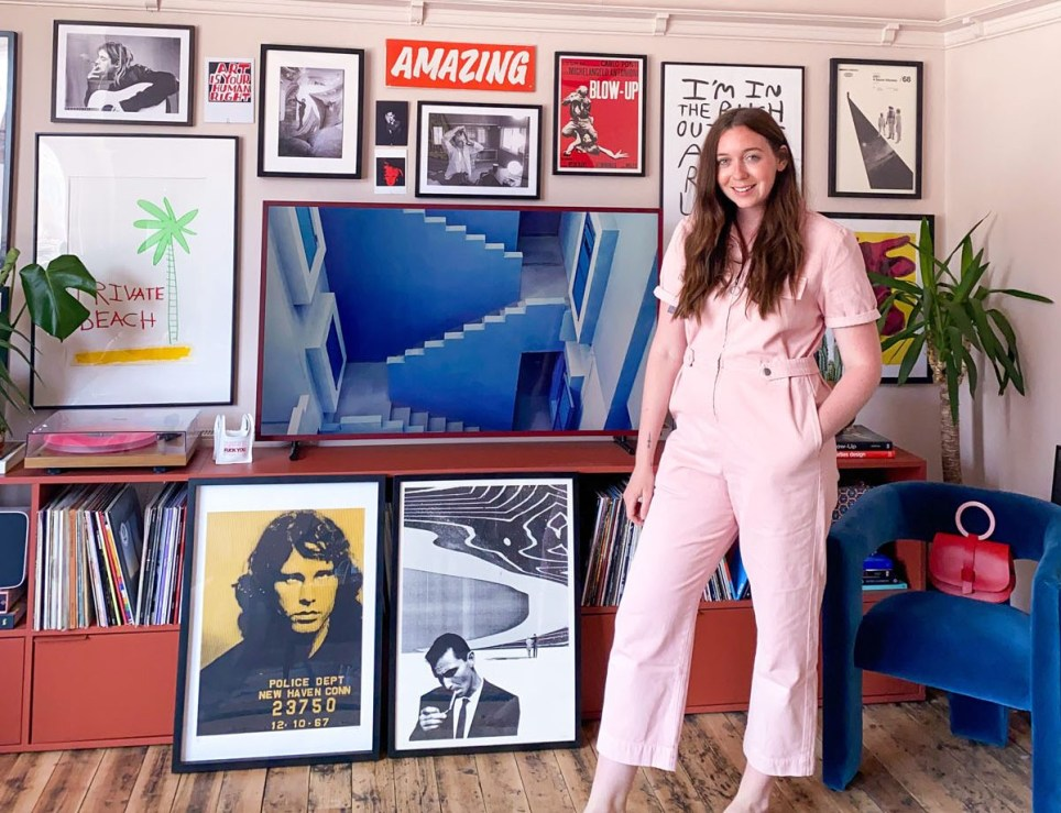 What I Rent: Emma Jane Palin, Margate, Emma in the bedroom