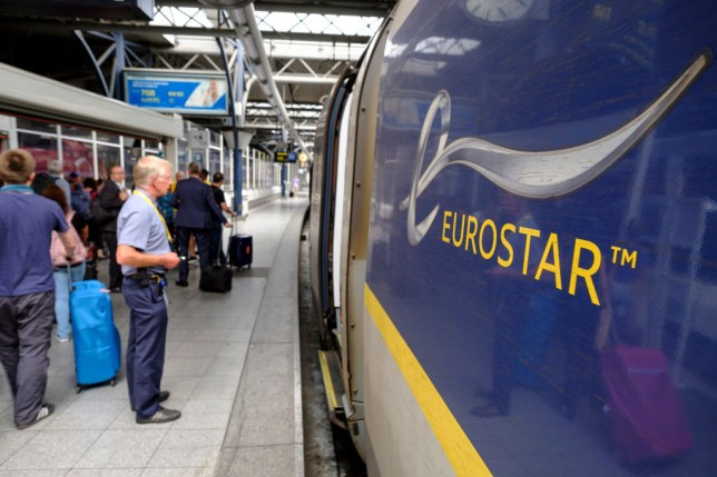High speed Train In Brussels-South Railway Station