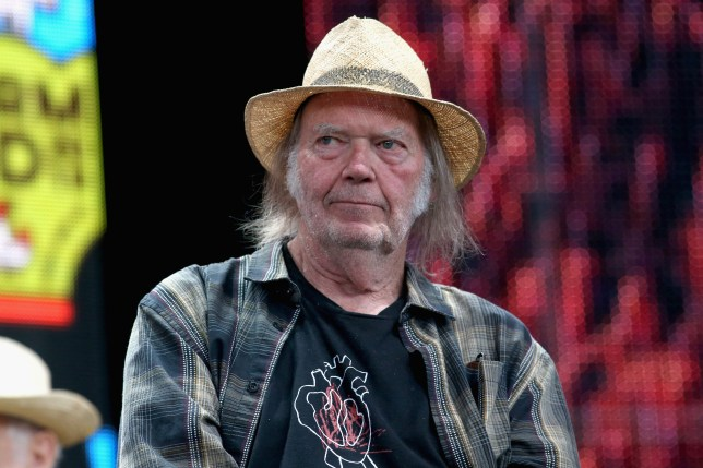 Neil Young performing in 2019