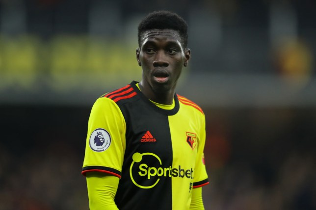 Ismaïla Sarr of Watford in action during the Premier League match between Watford FC and Wolverhampton Wanderers at Vicarage Road on January 01, 2020 in Watford, United Kingdom.