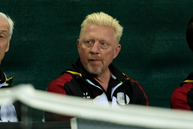 Head of Men's Tennis Boris Becker of Germany looks dejected during the first day of the Davis Cup qualifier between Germany and Belarus at Castello on March 6, 2020 in Duesseldorf, Germany.