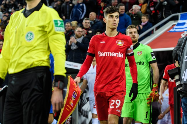Chelsea transfer target Kai Havertz walks out ahead of Bayer Leverkusen's clash with Union Berlin