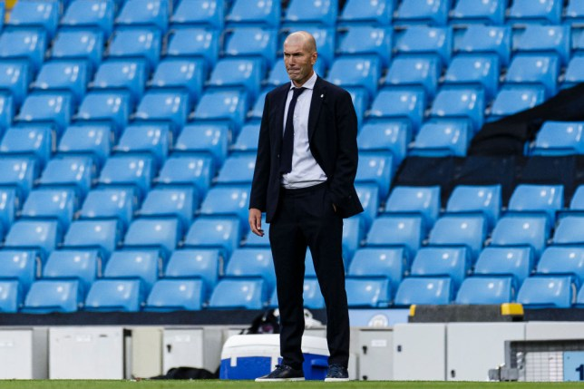 Zidane's side crashed out of the Champions League to City