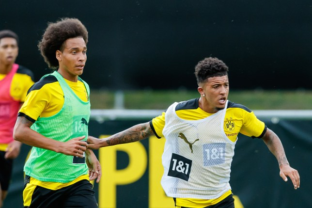 Jadon Sancho and Manchester United transfer target Jadon Sancho in Borussia Dortmund training