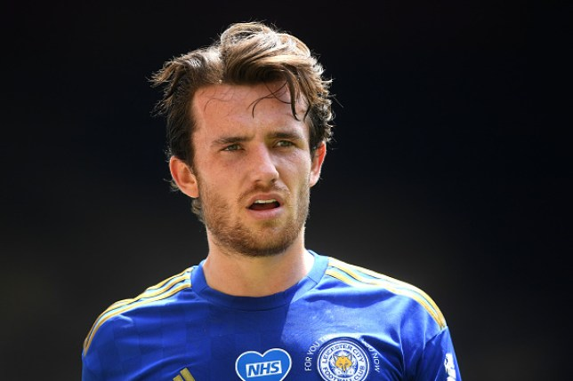 Ben Chilwell of Leicester looks on during the Premier League match between Watford FC and Leicester City at Vicarage Road on June 20, 2020 in Watford, England. Football Stadiums around Europe remain empty due to the Coronavirus Pandemic as Government social distancing laws prohibit fans inside venues resulting in all fixtures being played behind closed doors.