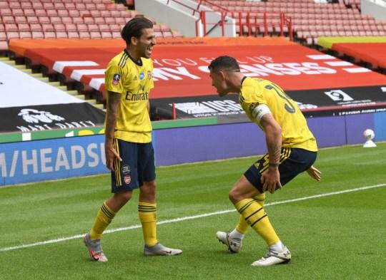 Dani Ceballos y Granit Xhaka impresionaron en el corazón del mediocampo del Arsenal hacia el final de la temporada pasada