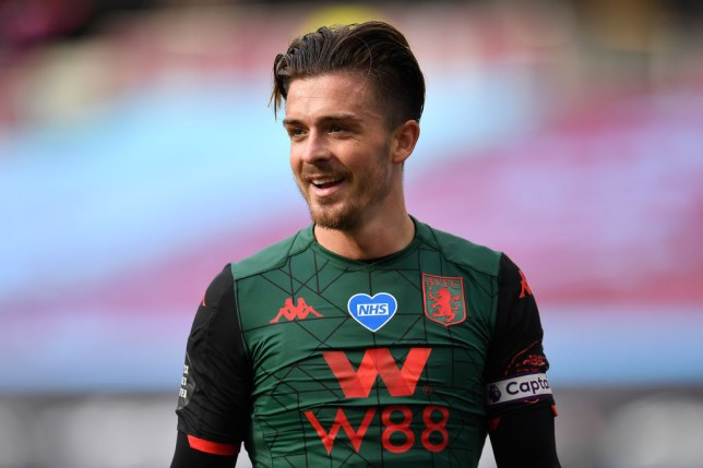 Jack Grealish of Aston Villa reacts during the Premier League match between West Ham United and Aston Villa at London Stadium on July 26, 2020 in London, England.