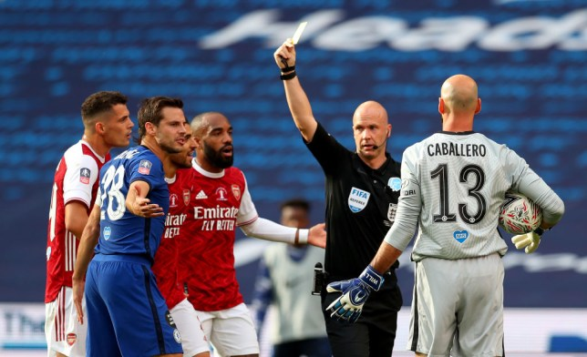 Anthony Taylor awarded a first half penalty in Arsenal's favour in the FA Cup final