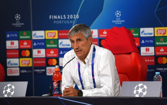 Quique Setien was sacked following Barca's Champions League exit