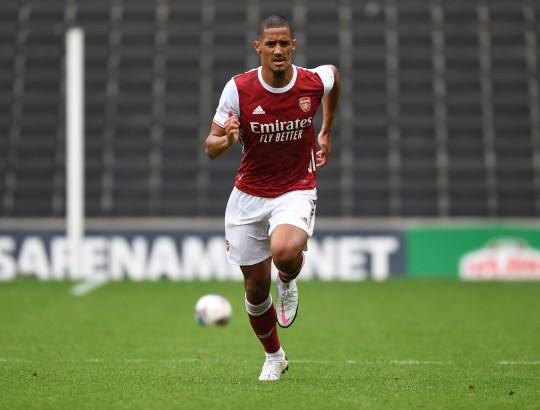 William Saliba impressed during the recent friendly win over MK Dons