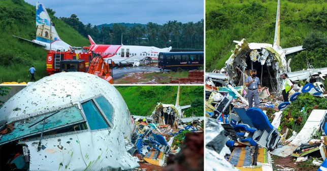 Plane wreckage from Air India Express flight, 7th August 2020