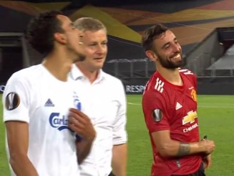 Ole Gunnar Solskjaer mocks Bruno Fernandes after Man Utd's win vs FC Copenhagen