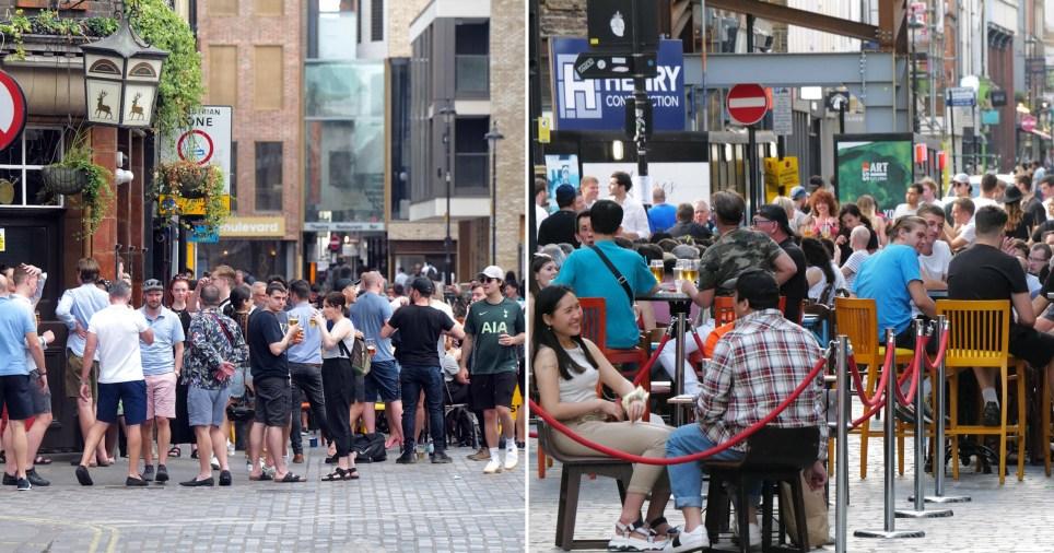 Pubs and beer gardens heaving despite delays to easing of lockdown measures