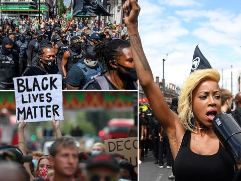 Hundreds of protesters march through Brixton to mark Afrikan Emancipation Day