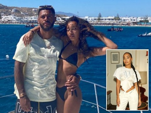 Little Mix's Leigh-Anne Pinnock soaks up the sun as she enjoys Greece getaway with Andre Gray
