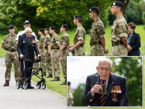 Captain Tom Moore 'delighted' to be made honorary colonel of Army training college