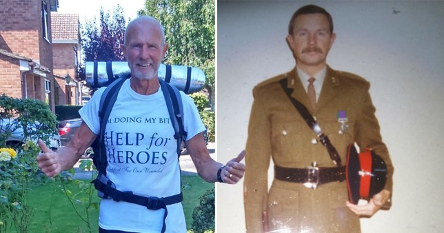 Former soldier told he'd never walk again hikes 360 miles for charity