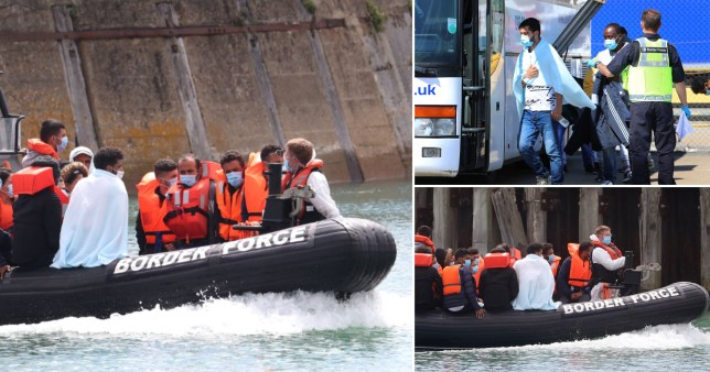A group of about 10 migrants were rescued from the Channel by UK Border Force live on Good Morning Britain.
