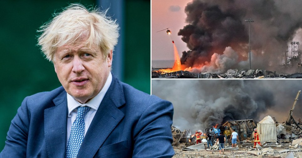 Boris pledges to support Beirut 'in any way we can' following devastating explosion