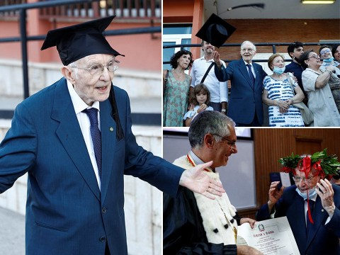 War veteran, 96, finally fulfills lifelong dream to graduate university