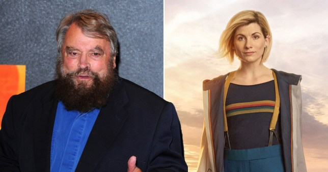 Brian Blessed and Jodie Whittaker as the Doctor