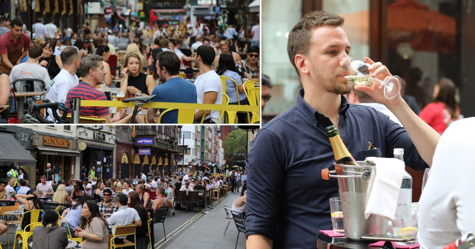 Huge crowds pack London beer gardens on day of soaring temperatures