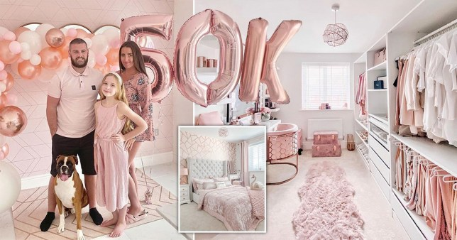 mum spends £50k turning family home into a pink paradise