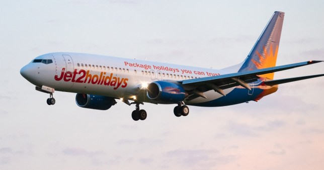 Witnesses said they heard a loud bang and flames coming from a Jet2 plane shortly after it took off from Manchester Airport.