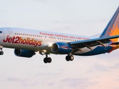Loud bang and flames seen coming from plane after take off at Manchester