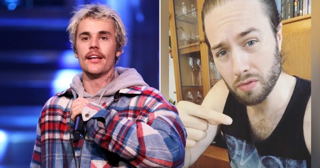 Justin Bieber pictured alongside Dr Joshua Wolrich