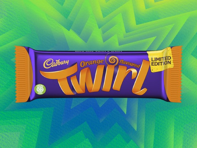 Orange Cadbury Twirl
