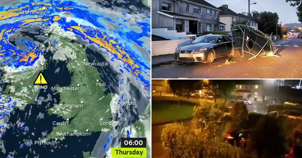 Storm Ellen first hit Ireland but is expected to bring gale force winds and the risk of flooding across Wales, western Scotland and the south-west of England
