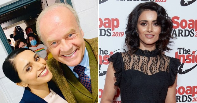 Bhavna Limbachia pictured with Kelsey Grammer