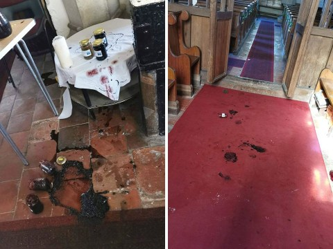 Vandals target 930-year-old church smearing jam down the aisle