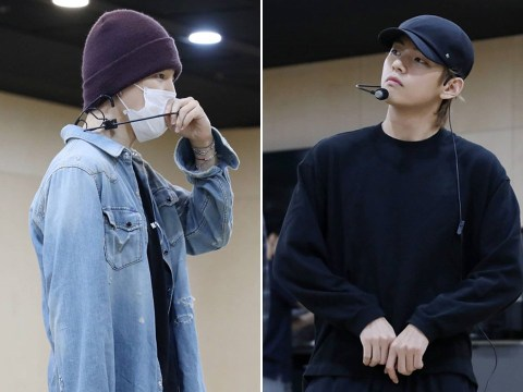 BTS deep in concentration as they prepare for first ever MTV VMAs performance
