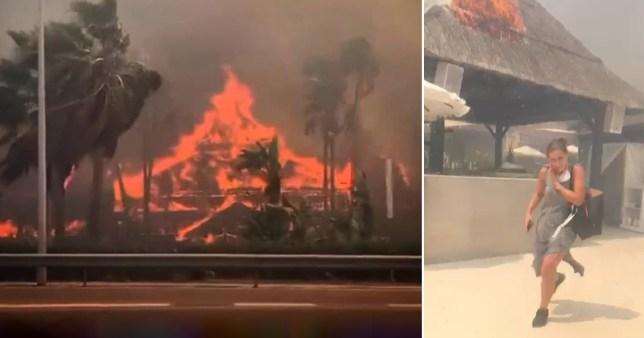 Mass evacuation as huge fire rips through Costa del Sol village complex